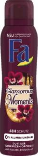 Fa Women Glamorous Moments, Duft der schwarzen Orchidee, 48h Anti-Flecken Deo Spray, 0 % Aluminiums
