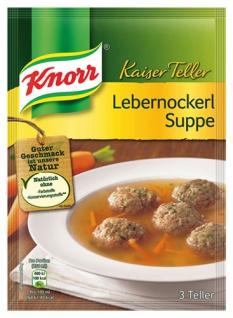 Knorr Kaiser Teller Lebernockerl-Suppe, 3 Teller