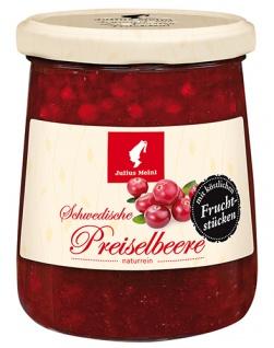 Julius Meinl Schwedische Preiselbeere naturrein, mit köstlichen Fruchtstücken