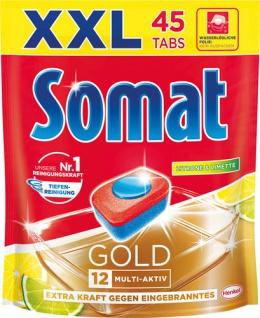 Somat 12 Gold Zitrone & Limette XXL Tabs Multi-Aktiv (Reiniger, sofort-aktiv, Glasschutz, Klarspüle