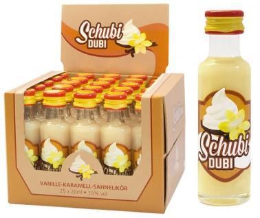 Bauer Schubi Dubi, Vanille-Caramel-Sahnelikör, 15 % Vol.Alk., 25 x 20 ml - Vorschau