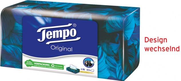 Tempo Original Taschentücher-Box, 4-lagig, waschmaschinenfest