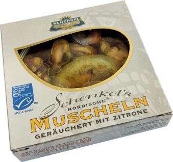 Schenkel MSC Nordische Muscheln geräuchert mit Zitrone