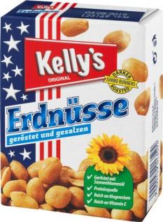 Kelly's Original Erdnüsse geröstet/gesalzen, 10 Pkg. à 40 g (HYGIENISCHE PORTIONSPACKUNGEN)