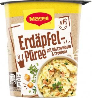 Maggi Quick Snack Erdäpfelpüree mit Röstzwiebeln & Croutons, 1 Portion