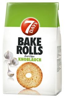 7 Days Bake Rolls Knoblauch, Brotchips