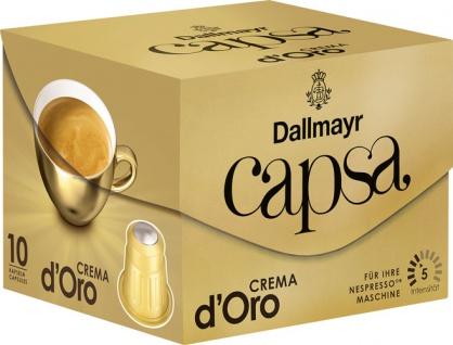 Dallmayr Capsa Crema d'Oro 5, Nespresso-kompatibel, 10 Kaffeekapseln