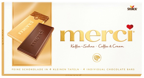 Merci Kaffee-Sahne, 4 Mini-Tafelschokoladen