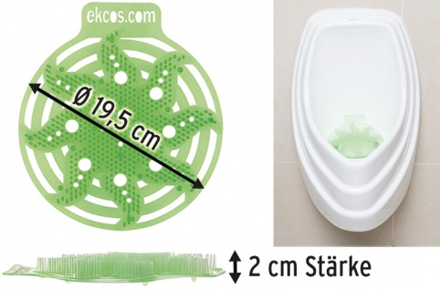 Ekcos PowerScreen Green Apple 30 Tage, Ø 195 mm, Urinalmatte für Pissoirs mit dem Duft nach würzige