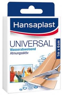 Hansaplast Universal Pflaster, wasserabweisend, zuschneidbar, 10 Stück à 10 x 6 cm