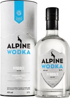 Pfanner Alpine Wodka, 40 % Vol.Alk., Österreich, in Geschenkdose