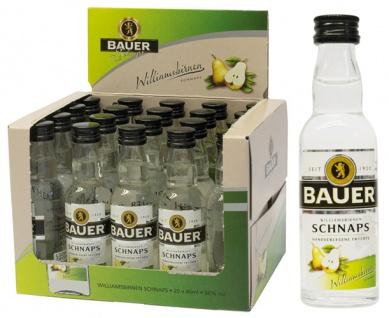 Bauer Styrian Panther Spirit Williamsbirnen-Schnaps, 36 % Vol.Alk., 20 x 40 ml