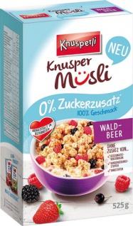 Knusperli Knusper Müsli Waldbeer, 0 % Zuckerzusatz
