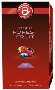 Teekanne Premium Waldbeeren, Früchtetee, Teebeutel im Kuvert, 2. Entnahmefach/displaytauglich
