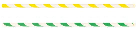 Ncube Trinkhalme bunt gestreift, 19, 7 x 0, 6 cm, aus FSC-Papier