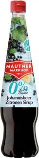 Mautner Markhof 0 % Zucker Johannisbeer-Citro-Sirup, ohne Zuckerzusatz, PET