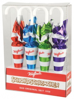 Küfferle Schoko-Schirmchen, 4 Stück