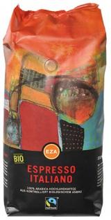 EZA Fairtrade Espresso Italiano, Bio-Kaffee, Ganze Bohne