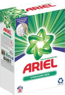 Ariel Strahlend Rein, Vollwaschmittel, Pulver 30 WG