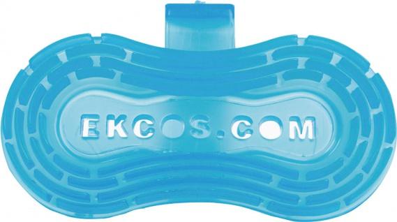 Ekcos EkcoClip Blue Fresh 30 Tage, L 215 x B 115 mm, Duftclip für Pissoirs und WC-Schüsseln