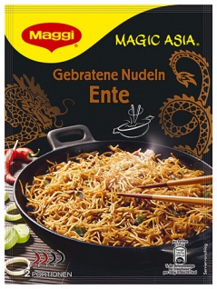 Maggi Magic Asia Gebratene Nudeln Ente, 2 Portionen