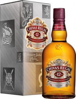 Chivas Regal Blended Scotch Whisky 12 Years, 40 % Vol.Alk., Schottland, im Geschenkkarton