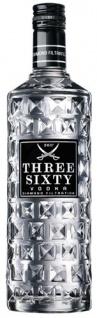 Three Sixty Vodka Original, Diamond filtrated, 37, 5 % Vol.Alk.