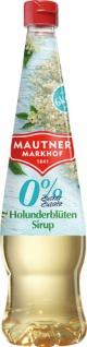 Mautner Markhof 0 % Zucker Holunderblüten-Sirup, ohne Zuckerzusatz, PET