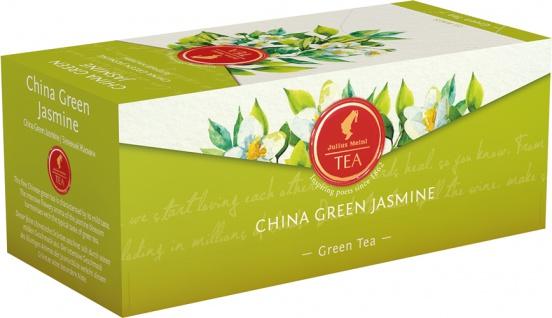 Julius Meinl China Green Jasmine, Grüner Tee mit Jasmin, Teebeutel im Kuvert, 2. Entnahmefach/displ