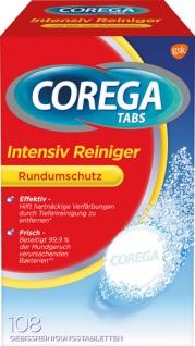 Corega Intensiv-Reiniger Tabs Rundumschutz, Gebissreinigungstabletten für Voll- und Teilprothesen