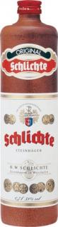Schlichte Original Steinhäger, 38 % Vol.Alk., Tonflasche
