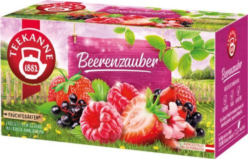 Teekanne Früchtegarten Beerenzauber, Teebeutel im Kuvert