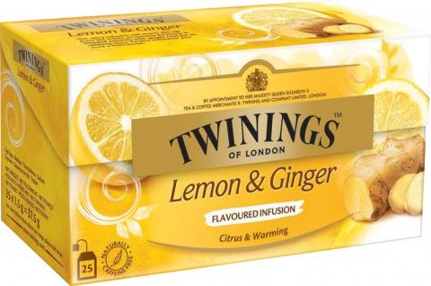 Twinings Lemon & Ginger, Früchtetee, Teebeutel im Kuvert
