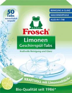 Frosch Limonen Alles-in-1 Spül-Tabs BIO, in wasserlöslicher Folie
