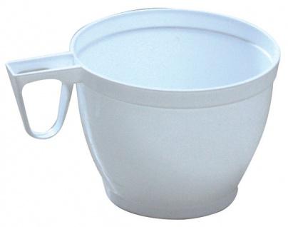 Kaffeetasse Plastik mit Henkel weiß 0, 18 Liter