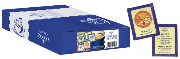 Wiener Zucker Tierkreiszeichen, 1.000 Briefchen à 3, 63 g, Portionspackungen