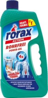 Rorax Action Rohrfrei Power-Gel, Abflußreiniger