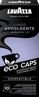 Lavazza Eco Caps Lungo Avvolgente 5, Nespresso-kompatibel, 10 Kaffeekapseln