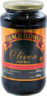 Beach Flower Spanische Oliven schwarz, ohne Kern