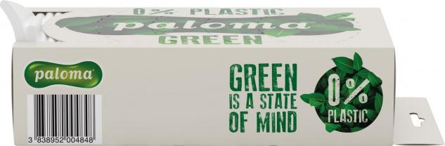 Paloma Green Taschentücher-Box, 0 % Plastik, 4-lagig, wiederbefüllbar, Entnahmeöffnung in 6 verschi