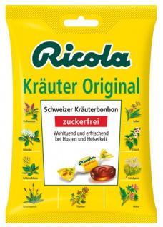 Ricola Schweizer Kräuterzucker Original, Schweizer Kräuterbonbons zuckerfrei