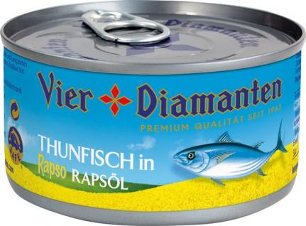 Vier Diamanten Thunfisch in Rapso Rapsöl
