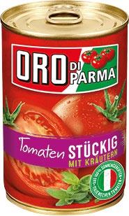 Oro di Parma Tomaten stückig mit Kräutern