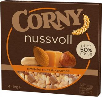 Corny nussvoll Dreierlei Nuss & Karamell Müsliriegel, 4 Stück