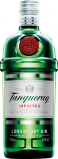 Tanqueray London Dry Gin, 4 times distilled, 47, 3 % Vol.Alk.