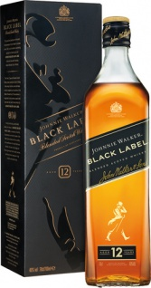 Johnnie Walker Black Label Blended Scotch Whisky 12 Years, 40 % Vol.Alk., Schottland, im Geschenkka