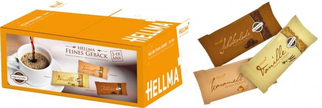 Hellma Feines Gebäck 3er-Mix (Vanille, Schokolade, Karamell), 200 Stück, einzeln verpackt