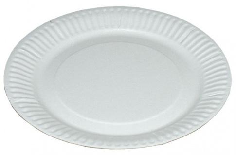 Pappteller rund groß, Ø 23 cm, weiß