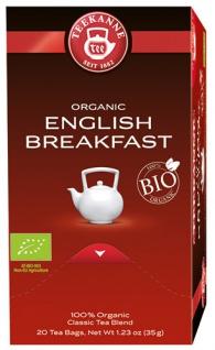 Teekanne Bio English Breakfast, Schwarztee, Teebeutel im Kuvert, 2. Entnahmefach/displaytauglich