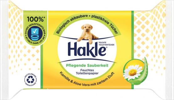 Hakle Feucht Pflegende Sauberkeit, Feuchte Toilettentücher mit Kamille & Aloe Vera, biologisch abba